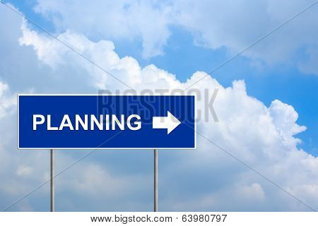 Financial Planning On Blue Road Sign