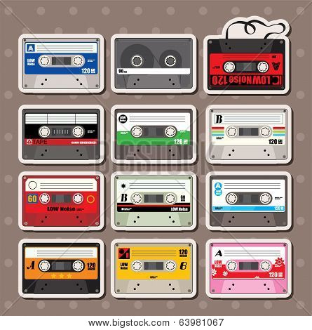 Music Tapes Stickers