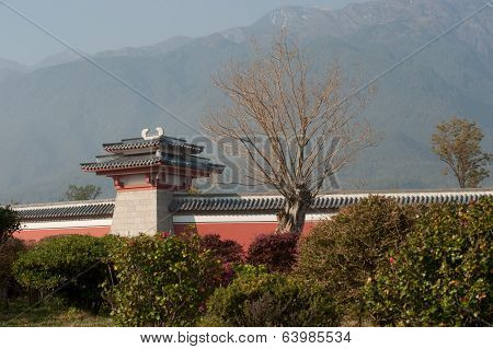 Pavilion On The Wall Of Chongsheng Temple .