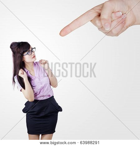 Businesswoman Scolded By Someone