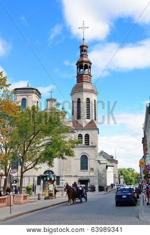 QUEBEC CITY, CANADA - SEP 10: Street view in the day on September 10, 2012 in Quebec City, Canada. As the capital of the Canadian province of Quebec, it is one of the oldest cities in North America.
