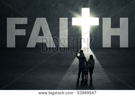 Family Walks Toward Faith Door