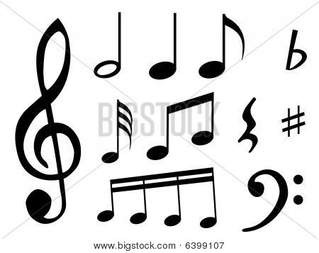Music Notes And Signs Stock Vector & Stock Photos | Bigstock