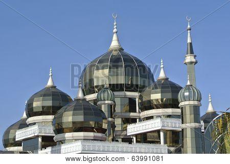 Dome of Crystal Mosque in Teregganu, Malaysia