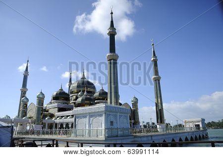 Crystal Mosque in Teregganu, Malaysia