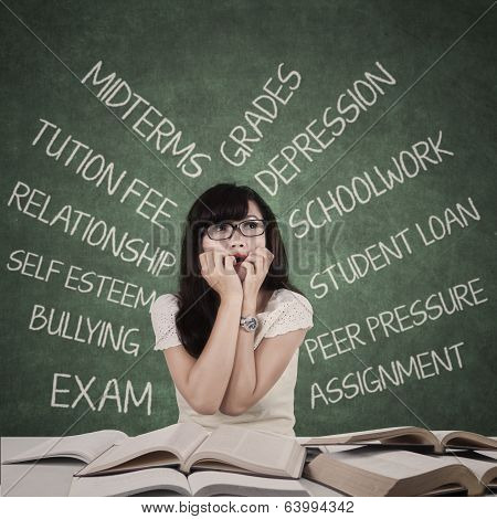 Stressed Student With Many Problems