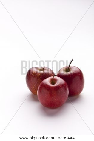 Three Red Apples lower right Vertical
