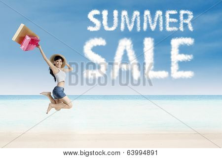 Summer Sale Clouds And Woman