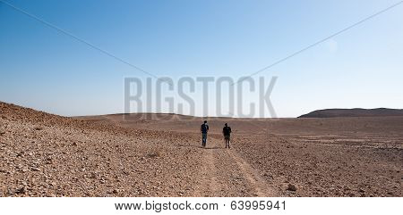 Tourists In Judean Desert