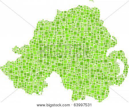 Isolated map Northern Ireland