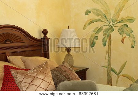 Bedroom with Wall Art