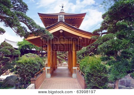 Chinese pavilion of Tang Dynasty style in the Hong Kong