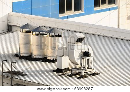 Ventilation Systems On A Roof