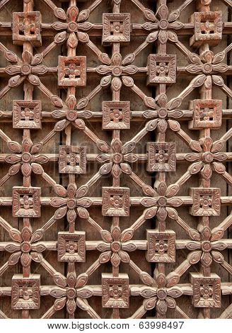 Carved Wooden Latticework