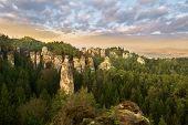 pic of bohemian  - Sandstone formations in Bohemian Paradise Czech Republic - JPG