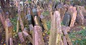 stock photo of rabbi  - The Old Jewish Cemetery in Prague Czech Republic where many notable Jewish leaders are buried including Rabbi Judah Loew The Maharal