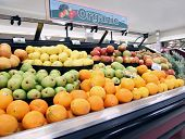 stock photo of local shop  - local organic produce at a grocery shop or store - JPG