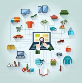 picture of electronic commerce  - Flat and web design banner - JPG
