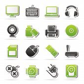 stock photo of peripherals  - Computer peripherals and accessories icons  - JPG