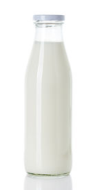 picture of milkman  - Bottle of milk isolated on white background - JPG