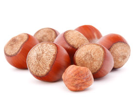 picture of filbert  - hazelnut or filbert nut isolated on white background cutout - JPG