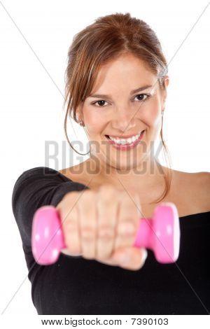 Woman Lifting Free-weights