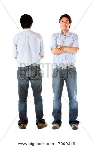 Front And Back Of A Man