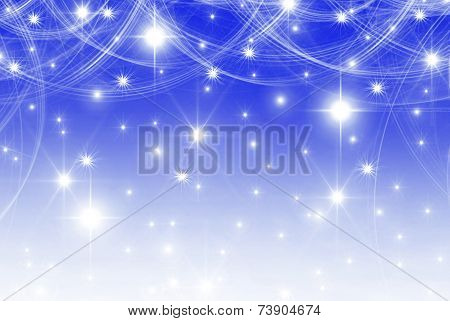 smooth blue with stars background