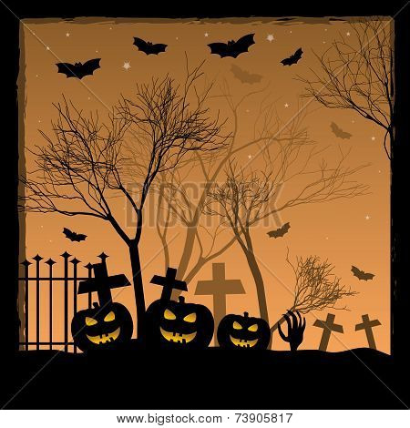 Festive Illustration On Theme Of Halloween. Wishes For Happy Halloween. Trick Or Treat