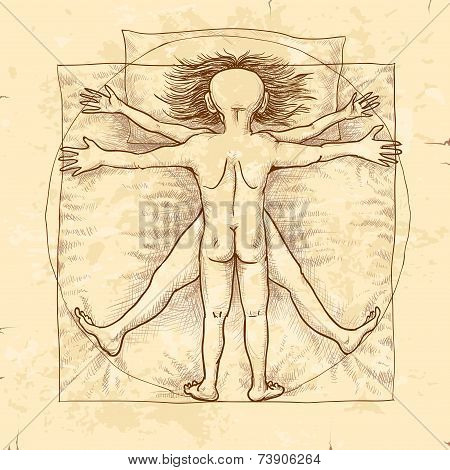 Vitruvian couple