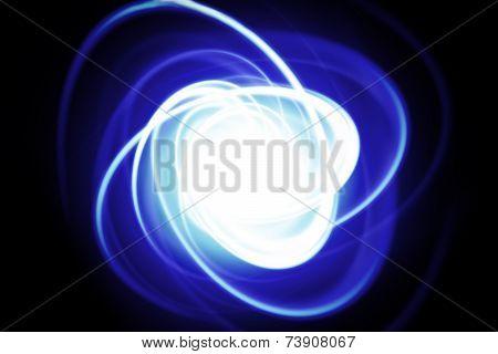 Blue Dynamic Streak On A Black Background