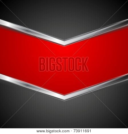 Abstract technology background with metal stripes. Vector design