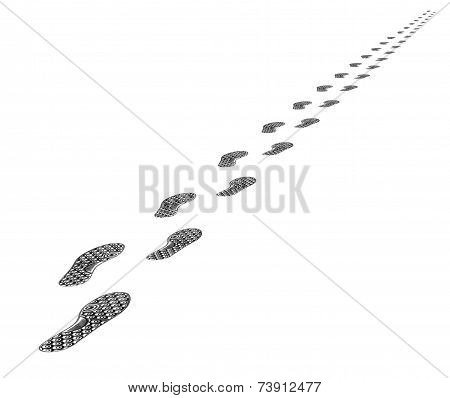 Tracks Of Shoes