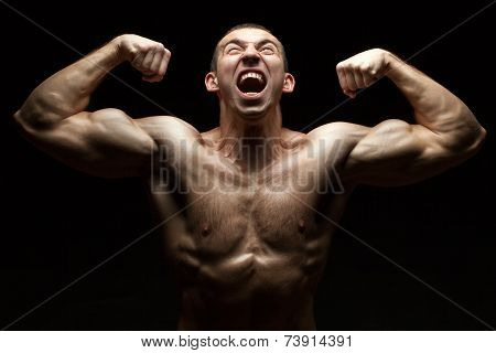 Portrait Of A Bodybuilder Who Cries.