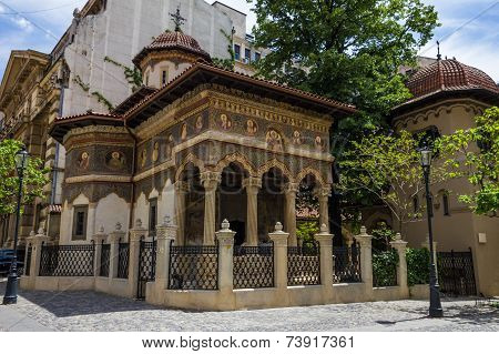 St. Michael And Gabriel Church In Bucuresti, Romania.