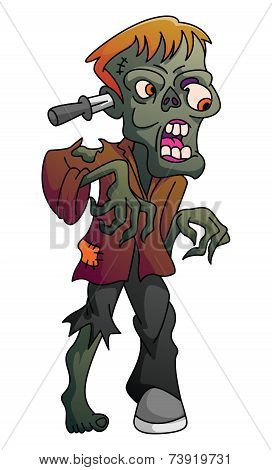 Zombie On Isolated White