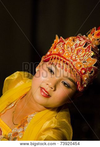 Traditional Burmese Dancer