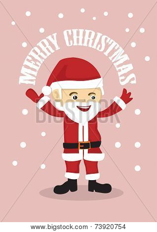 Cute Santa Clause Merry Christmas Vector Illustration
