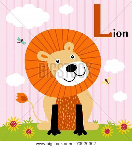 Animal alphabet for the kids: : L for the Lion