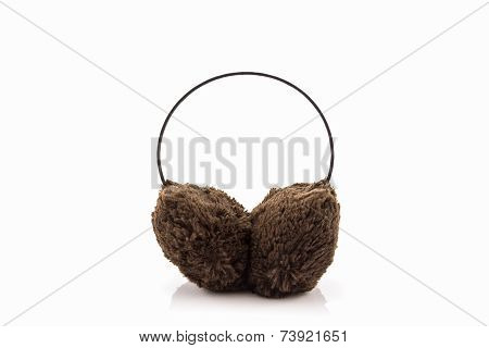 Brown Fuzzy Winter Ear Muff.