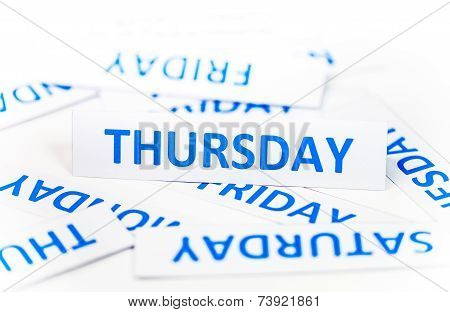 Thursday word texture background font paper week