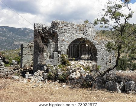 Roman baths in the ancient city of Sidyma..