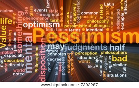 Pessimism Word Cloud Glowing