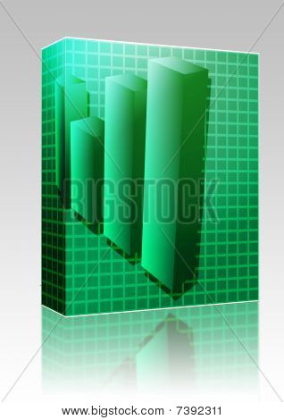 Financial Barchart Illustration Box Package