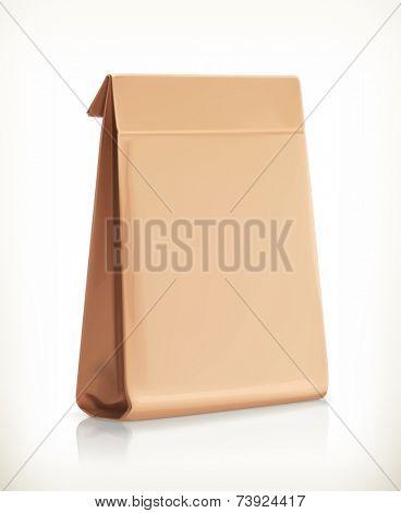 Paper bag, vector object