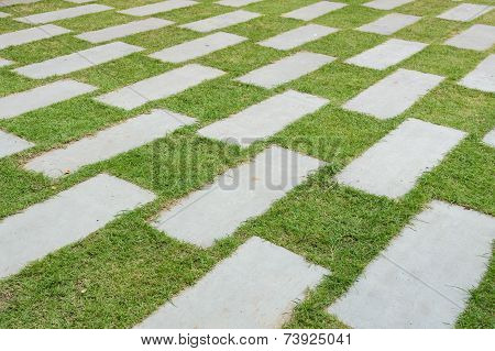 Stone Pavers Decorated Background
