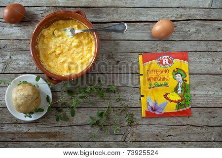 Culinary Preparation With Saffron Of Meneghino