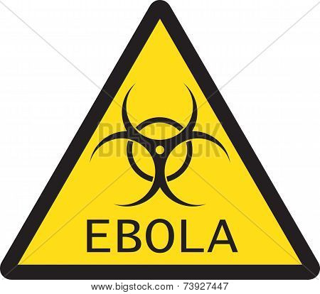 Illustration of sign of Ebola biological hazard