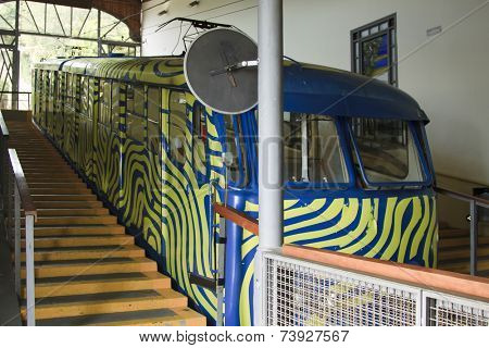 Travel in Barcelona, Spain. Tibidabo Funicular