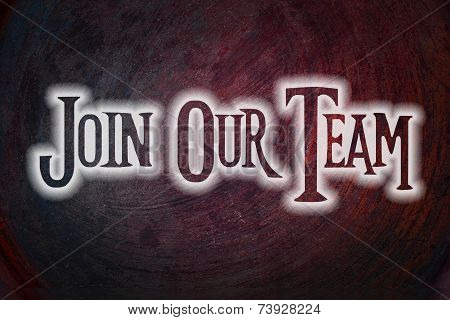Join Our Team Concept